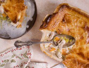 Turkey, Ham and Maple Pie