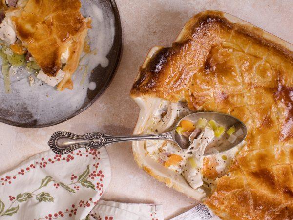 turkey ham and maple pie