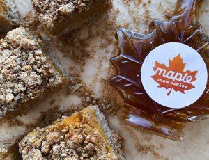 That Health Junkie's maple and pumpkin crumb bars